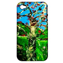 Coral Tree 2 Apple Iphone 4/4s Hardshell Case (pc+silicone)