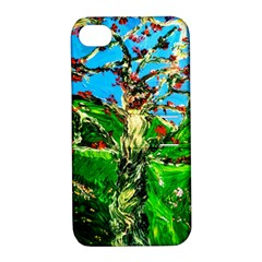 Coral Tree 2 Apple Iphone 4/4s Hardshell Case With Stand