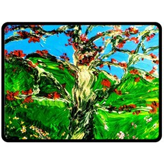 Coral Tree 2 Double Sided Fleece Blanket (large)