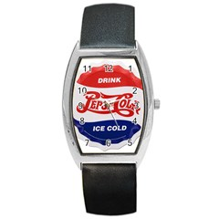 Pepsi Cola Bottle Cap Style Metal Barrel Style Metal Watch
