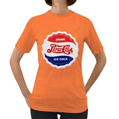 Pepsi Cola Bottle Cap Style Metal Women s Dark T Shirt