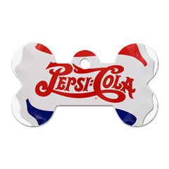 Pepsi Cola Bottle Cap Style Metal Dog Tag Bone (one Side)
