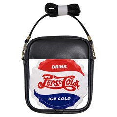 Pepsi Cola Bottle Cap Style Metal Girls Sling Bags