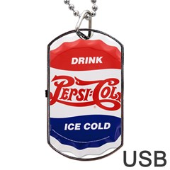 Pepsi Cola Bottle Cap Style Metal Dog Tag Usb Flash (one Side)