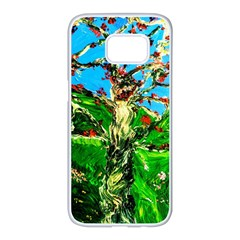Coral Tree 2 Samsung Galaxy S7 Edge White Seamless Case