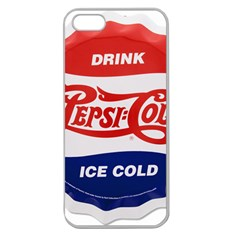Pepsi Cola Bottle Cap Style Metal Apple Seamless Iphone 5 Case (clear)