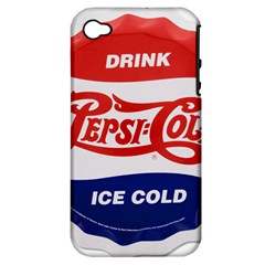 Pepsi Cola Bottle Cap Style Metal Apple Iphone 4/4s Hardshell Case (pc+silicone)