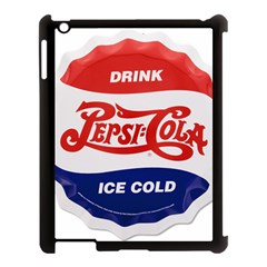 Pepsi Cola Bottle Cap Style Metal Apple Ipad 3/4 Case (black)