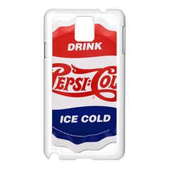 Pepsi Cola Bottle Cap Style Metal Samsung Galaxy Note 3 N9005 Case (white)