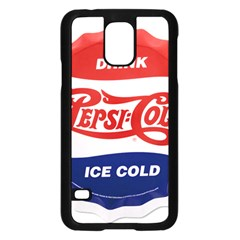 Pepsi Cola Bottle Cap Style Metal Samsung Galaxy S5 Case (black)
