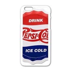 Pepsi Cola Bottle Cap Style Metal Apple Iphone 6/6s White Enamel Case by Samandel