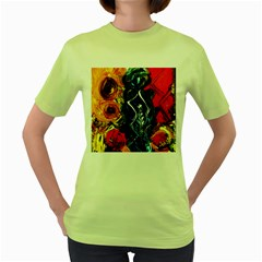 1 Butterfly 1 Women s Green T Shirt