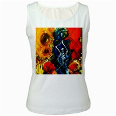 1 Butterfly 1 Women s White Tank Top