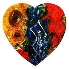 1 Butterfly 1 Jigsaw Puzzle (heart)