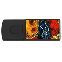 1 Butterfly 1 Rectangular Usb Flash Drive
