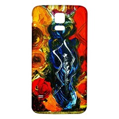 1 Butterfly 1 Samsung Galaxy S5 Back Case (white)