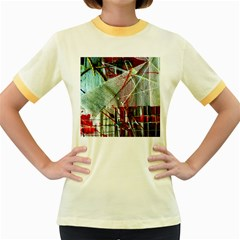 Hidden Strings Of Urity 10 Women s Fitted Ringer T Shirts