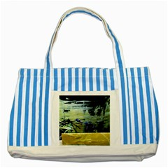 Hidden Strings Of Purity 9 Striped Blue Tote Bag