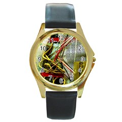 Hidden Strings Of Purity 15 Round Gold Metal Watch