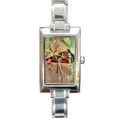 Hidden Strings Of Purity 12 Rectangle Italian Charm Watch