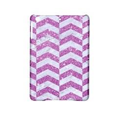 Chevron2 White Marble & Purple Glitter Ipad Mini 2 Hardshell Cases