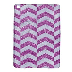 Chevron2 White Marble & Purple Glitter Ipad Air 2 Hardshell Cases