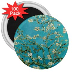 Almond Blossom  3  Magnets (100 Pack)