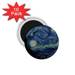 The Starry Night  1 75  Magnets (10 Pack)