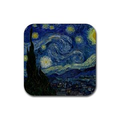 The Starry Night  Rubber Square Coaster (4 Pack)
