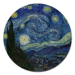 The Starry Night  Magnet 5  (round) by Valentinaart
