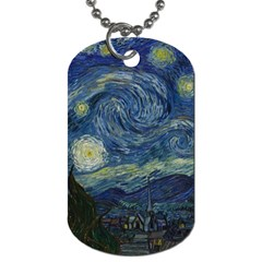 The Starry Night  Dog Tag (two Sides)