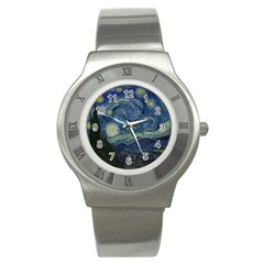 The Starry Night  Stainless Steel Watch