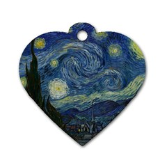 The Starry Night  Dog Tag Heart (two Sides)
