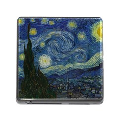 The Starry Night  Memory Card Reader (square) by Valentinaart