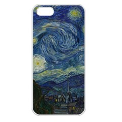 The Starry Night  Apple Iphone 5 Seamless Case (white) by Valentinaart