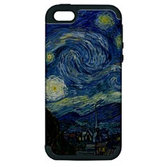 The Starry Night  Apple Iphone 5 Hardshell Case (pc+silicone)