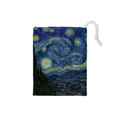 The Starry Night  Drawstring Pouches (small)  by Valentinaart