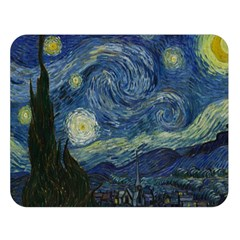 The Starry Night  Double Sided Flano Blanket (large)  by Valentinaart