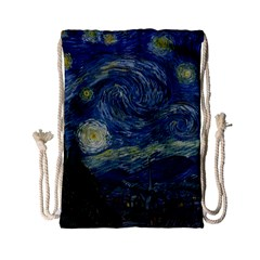 The Starry Night  Drawstring Bag (small) by Valentinaart