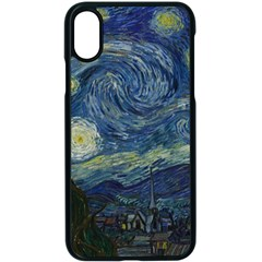The Starry Night  Apple Iphone X Seamless Case (black)