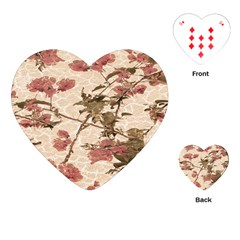 Textured Vintage Floral Design Playing Cards (heart)  by dflcprints