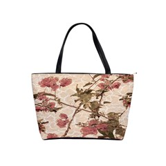 Textured Vintage Floral Design Shoulder Handbags by dflcprints