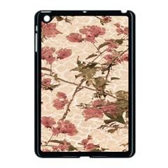Textured Vintage Floral Design Apple Ipad Mini Case (black)