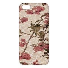 Textured Vintage Floral Design Iphone 5s/ Se Premium Hardshell Case