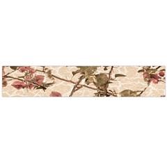 Textured Vintage Floral Design Large Flano Scarf