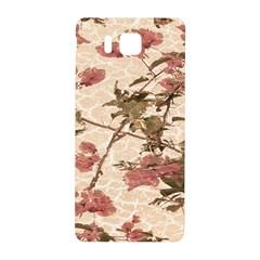 Textured Vintage Floral Design Samsung Galaxy Alpha Hardshell Back Case