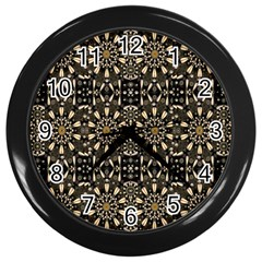 Wonderful Fantasy Pearl Flowers Landscape Wall Clocks (black)