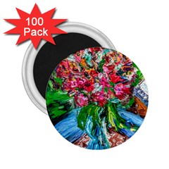 Paint, Flowers And Book 2 25  Magnets (100 Pack)