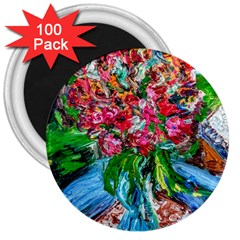 Paint, Flowers And Book 3  Magnets (100 Pack)