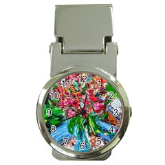Paint, Flowers And Book Money Clip Watches